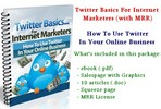 Thumbnail Twitter Basics For Internet Marketers - with MRR