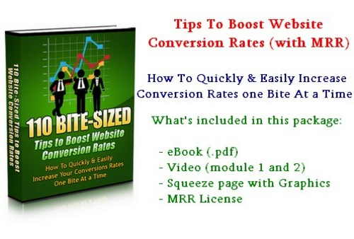 Product picture Tips To Boost Website Conversion Rates - with MRR