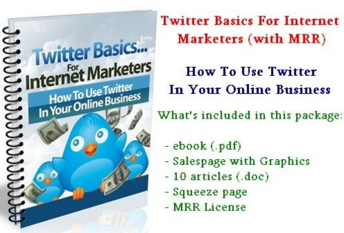 Product picture Twitter Basics For Internet Marketers - with MRR