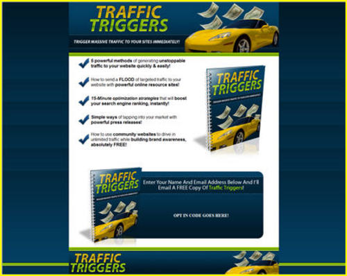 Product picture Traffic Triggers Report with Salespage and PLR